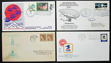US Postage Set of 4 Covers Letters War Memorial Stamp Zepelin USA Briefe (H-8311