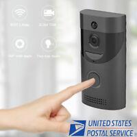 Wireless Smart WiFi DoorBell IR Video Visual Camera Intercom Home Security Black