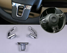 Chrome Steering Wheel trim fit VW GOLF 6 MK6 09 - 11 POLO 2011 2012 Bora Sagitar