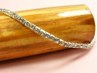 1 x 1 Row STRETCH Wedding Bridal CRYSTAL Rhinestone BANGLE Bracelet or ANKLET