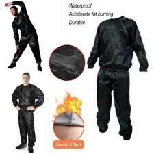 Quality Heavy Duty Sweat Sauna Suit Gym Fitness Exercise Weight Loss Tracksuit