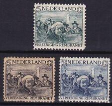 1930 Rembrandt zegels complete serie NVPH 229 / 231 ongestempeld