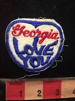 Vtg Georgia I LOVE YOU Patch 70WZ