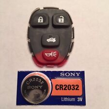 New Replacement 4 Button Keyless Remote Pad + CR2032 Battery KOBGT04A 15252034