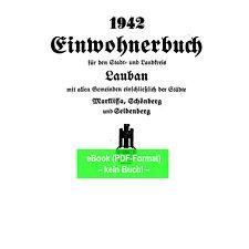eBook: Adressbuch Stadt u. Ldkrs. Lauban Marklissa Schlesien 1942 Lubań (AB345)