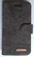 Commander Book Case Handy Tasche Samsung J510 Galaxy J5 (2016) Elite Nubuk  Grau