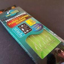 Behr Forellenhaken gebunden an Fluoro-Carbon Schnur 1,20m verschiedene Größen
