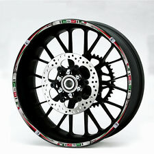 YAMAHA R1 R6 MOTORCYCLE WHEEL RIM DECALS STICKERS REFLECTIVE TAPE RED