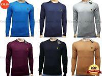 LYLE & SCOTT LONG SLEEVE CREW-NECK JUMPER FOR MEN || 100% Cotton || 6 Colour