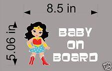 Wonder Woman Baby on Board / Vinyl Vehicle Decal / Superheros / Kids / Sticker
