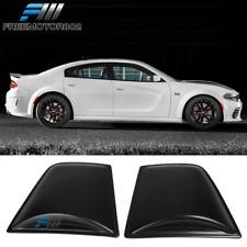 Fit 11-21 Dodge Charger Window Scoop Side Louver V4 Style Matte Black Sun Guard