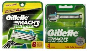 Gillette Mach3 Sensitive Razor Blade Refills, 12 Cartridges (Known as M3 Power)