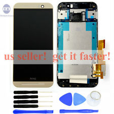 USA NEW OEM Gold HTC ONE M9 LCD Screen Display + Digitizer Touch + Frame tools