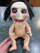 "Custom Jigsaw Doll / Baby Doll Saw Movie Halloween Decoration Approx 12"" Tall"