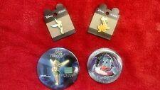 Disney Tinker Bell pin (2)-Pluto pin and 1 Donald Duck pin (Alien Encounter)