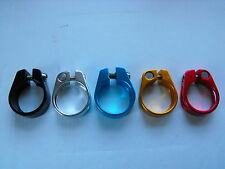 Light Alloy SADDLE POST CLAMP for 27.2mm Diam Saddle Posts Choice of Colours