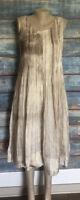 Bianco Levrin Womens Silk Sleeveless Shift Dress Size Small