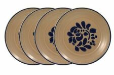 Vintage 4 Pfaltzgraff USA FOLK ART  Salad Dessert Plates Castle Stoneware Dish