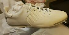 HUGO BOSS SATURN leather knit white trainers NEW UK 11 EU 45 low-top genuine