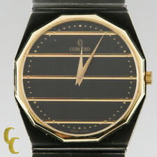 Men's Concord Mariner SG Watch Two Tone Black & Gold Dial Gun Metal