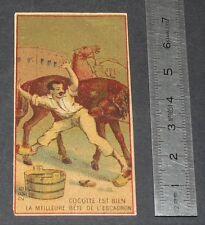 PETIT CHROMO BISCUIT 1890-1910 COCOTTE EST BIEN LA MEILLEURE BETE DE L'ESCADRON