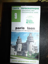 Carte IGN 9 PARIS LAON PARC NATUREL DE LA MONTAGNE DE REIMS 1982