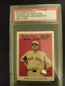 2013 Promo 1915 Cracker Jack Babe Ruth Card That Never Was #294/500 PSA