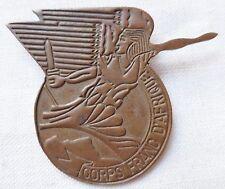 Insigne Commando WWII 1942 CFA CORPS FRANC D'AFRIQUE ORIGINAL (Grazziani) badge