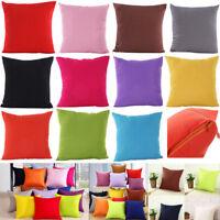Fashion Home Plain Throw Cushion Cover Rome Decor Sofa Waist Pillow Case Square