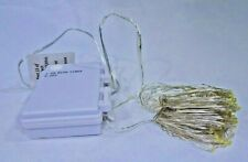 100 Warm White LED Copper Wire String Light Battery Operated With Timer T3