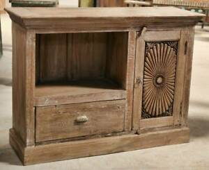 NEW Open cabinet with carved door