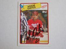 ADAM OATES 88-89 TOPPS AUTOGRAPHED CARD W/COA