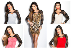 VESTITO DONNA SEXY COCKTAIL MINI DRESS CORTO DISCOTECA ABITO RAGAZZA LEOPARDATO