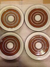 "Lot Of 4 WEDGWOOD MIDWINTER Stonehenge Earth 10.5"" Dinner Plates"