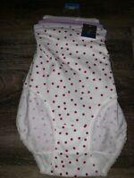 Secret Treasures ~ 3-Pair Women's Brief Underwear Panties Cotton ~ 3XL/10