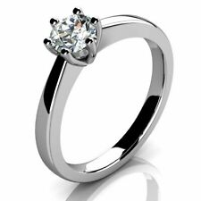 Bargain..! 0.50ct Round Diamond Solitaire Ring in Hallmarked Platinum