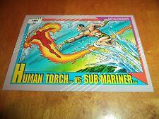 Human Torch vs. Sub-Mariner 97 1991 Marvel Universe Series 2 Impel Base Tra Card