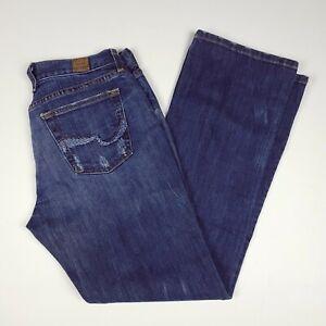 Lucky Brand Womens Easy Rider Denim Jeans Sz 10/30  Medium Wash Straight