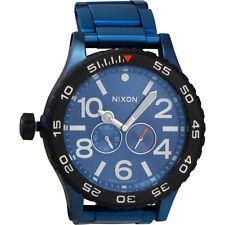 Nixon Moon Raider Blue Dial Titanium Men's Watch A947213700