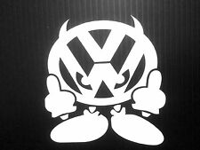 VW Devil Sticker Decal JDM Vinyl funny Drifting Volkswagen Fatlace Euro Dub
