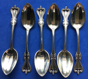 """6 TEA SPOONS TOWLE OLD COLONIAL STERLING SILVER NICE NO MONOGRAMS 5 1/8"""""""