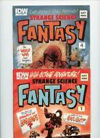 Strange Science Fantasy #1 and 4 IDW Publishing 2 Comic Lot