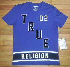 2435s NWT $81 Blue Black White NEW RELIGION 02 True Defense Designer T-shirt!