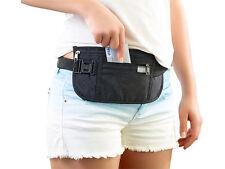 Semptec Enganliegende Bauchtasche mit RFID-Blocker Reise Geldbeutel Geldtasche