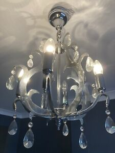 A Pair Of ceiling lights crystal Chandelier Style