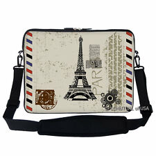 "17.3"" Laptop Computer Sleeve Case Bag w Hidden Handle & Shoulder Strap 2907"