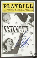 Cynthia Nixon signed autographed Distracted PLAYBILL