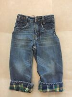 Baby Boy Gap Blue Warm Cotton Lined Jeans Size 2 Years Loose Fit