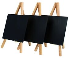 Securit Lacquered Finish Mini Easel Table Chalk Boards - Plain  Set of 3