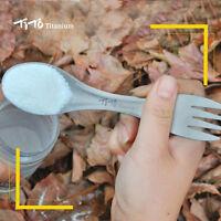 1pcs Outdoor PicincTitanium Camping Spork Fork Spoon Backpacking Ti Cookware